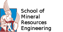 The logo of the Technical University of Crete with title School of Mineral Resources Engineering